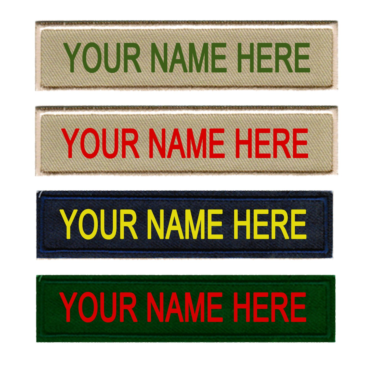 12 PIECES Custom Embroidered Scouts Name Tag Identification Badge Nametag for Uniform by Basics Clothing Store