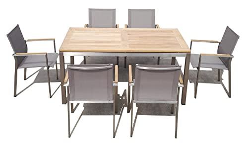 Amazon.de: Matodi Nexus Gartenmöbel Set 7 teilig Sitzgruppe Edelstahl