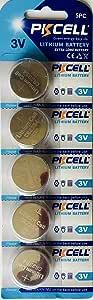 PKCell CR2354 Lithium 3V Batteries (Pack of 5)