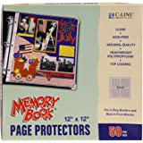 C-Line Memory Book 12 x 12 Inch Scrapbook Page Protectors, Clear Poly, Top Load, 50 Pages per Box (62227)