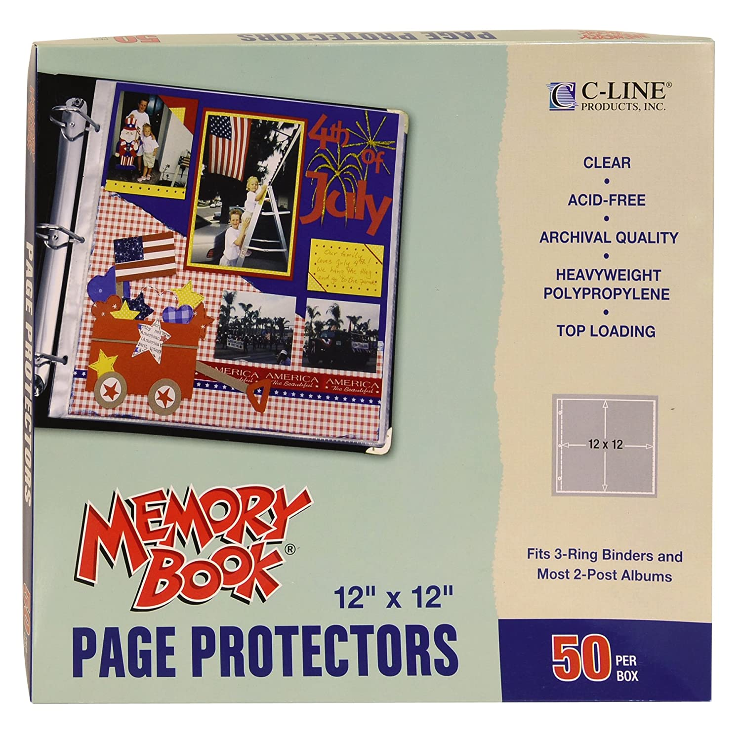 How to scrapbook without page protectors - Amazon Com C Line Memory Book 12 X 12 Inch Scrapbook Page Protectors Clear Poly Top Load 50 Pages Per Box 62227 Kitchen Dining