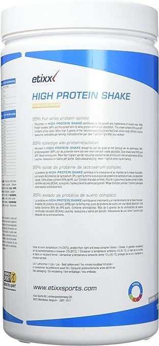 Etixx High Protein Shake, sabor a Vainilla - 1000 gr