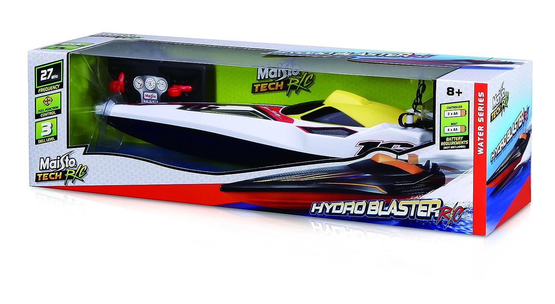 Maisto Tech R/C Hydro Blaster: Pfeilschnelles RC Boot in Speedboot-Ausfü hrung, mit Fernsteuerung, RTR, 34 cm, schwarz-orange (581322)