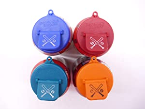 Beverage Buddee Can Cover -Sports Imprint - Best Can Cover For Standard Size Soda/Beer/Energy Drink Cans - Made In The USA - BPA-PCB Free - 4 Pack Assorted Colors