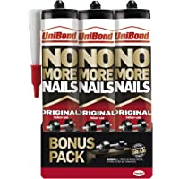UniBond 1969154 Nails Original Cartridge 365g Triple Pack, x 3, Set of 3 Pieces