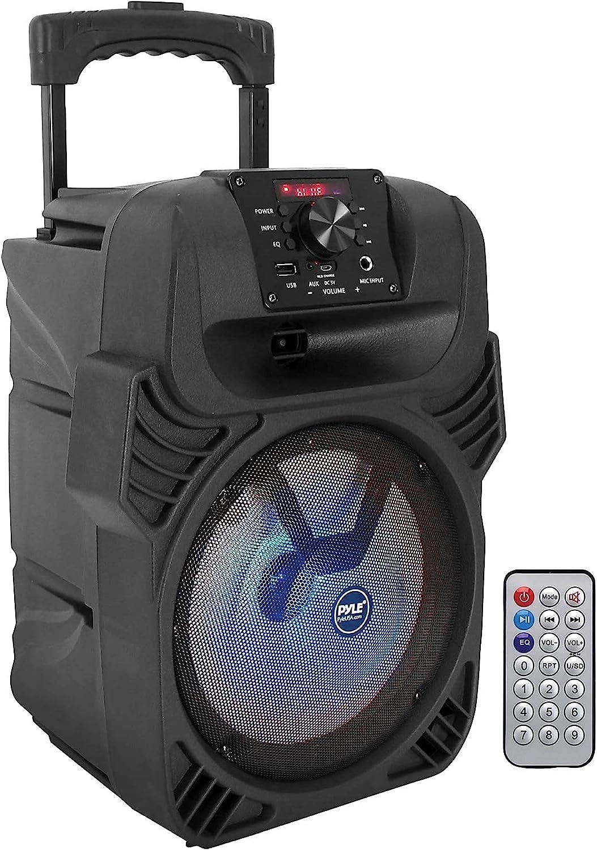 ViewSonar Black Portable Outdoor Desktop USB Charging Port for Bedside Rich Bass Poweriver Bluethooth Speaker with Alarm Clock,Wireless Speaker Handsfree HD Call FM Radio