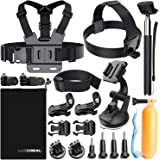 Luscreal Accessories for GoPro, Action Camera Accessories Kit for Go Pro Hero 7 Hero 2018 Hero 6 5 4 3 2 1 Hero Session 5 Black AKASO EK7000 Apeman and More