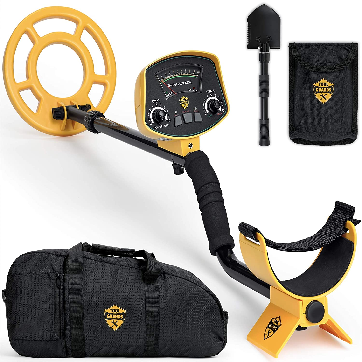 ToolGuards Metal Detector Easy to Use Carry Bag Shovel 2019 Model High-Accuracy