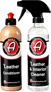 product image for Adam's Leather Care Kit - Leather Cleaner & Leather Conditioner Car Cleaning Supplies | UV Protection for Interior Accessories Steering Wheel Seat Dash Vinyl Shoe Polish Jacket | Safe Auto Chemical