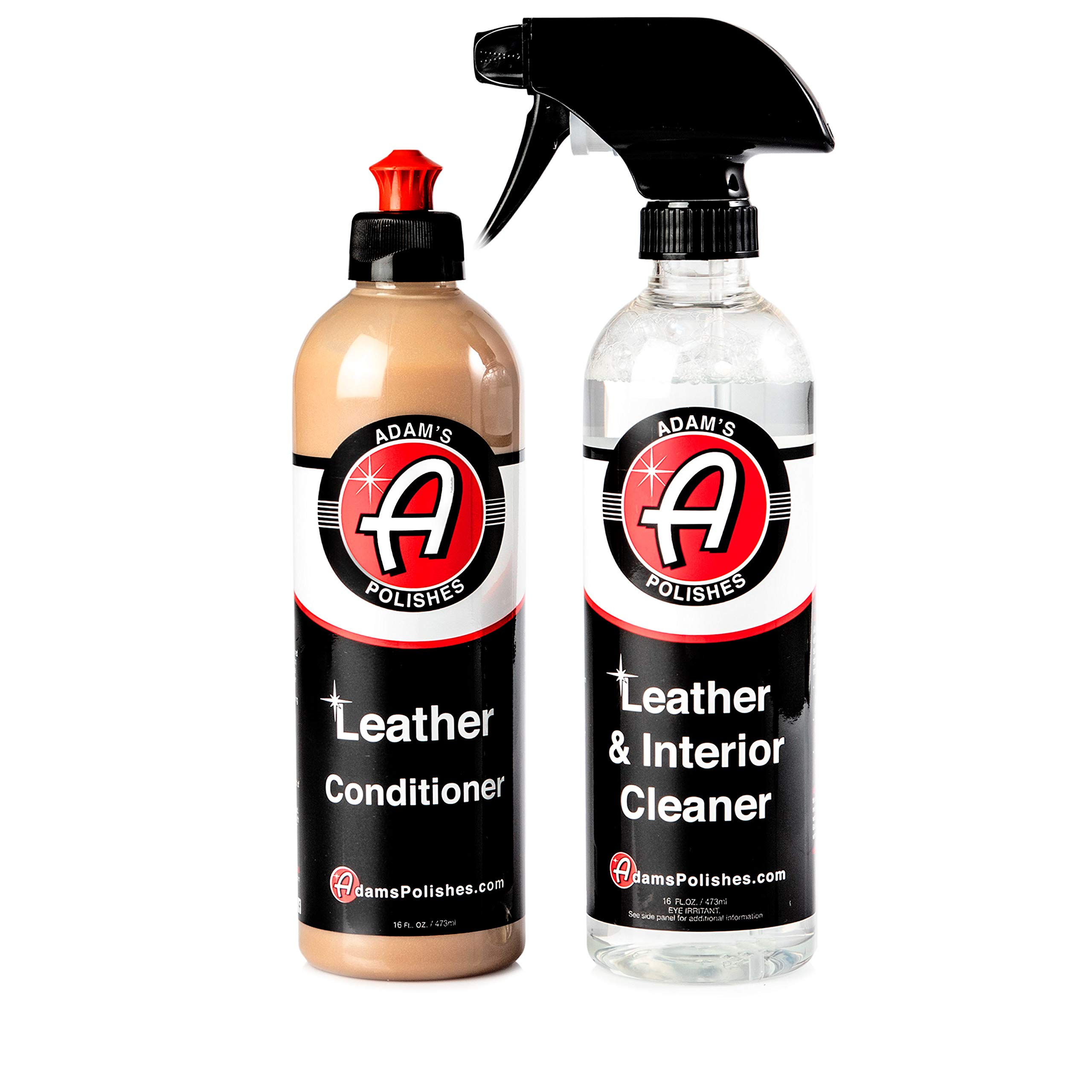 Adam's Polishes Leather Interior Cleaner & Conditioner Complete Leather Care Kit (Two Bottle Kit)