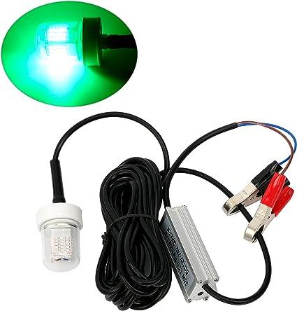 Green SFR 12V 30W 70LED 2100 Lumens Lure Bait Finder Night Fishing Light Lamp