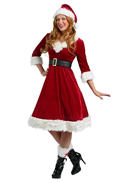 Amazon.com: Fun Costumes Plus Size Santa Claus Sweetie ...