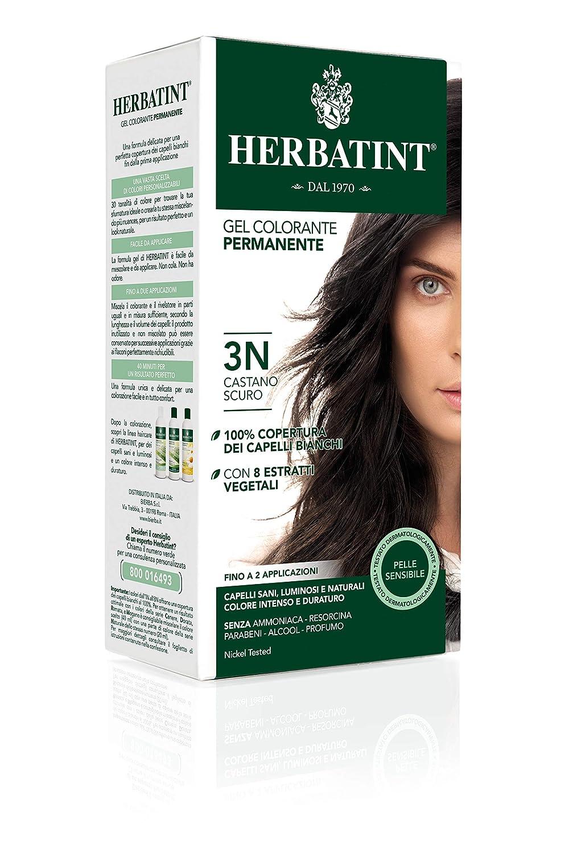 Herbatint Permanent Herbal Haircolour Gel 3N Dark Chestnut - Best Herbal Hair Colour in India.