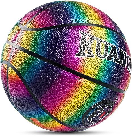 Kuangmi Rainbow - Balón de baloncesto para niños, niñas y hombres ...