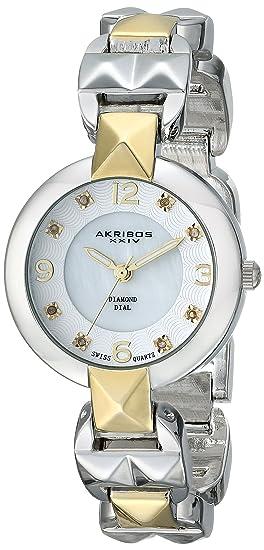 Akribos XXIV Empire analógica de la Mujer de aleación de Reloj con Mecanismo de Cuarzo Pulsera