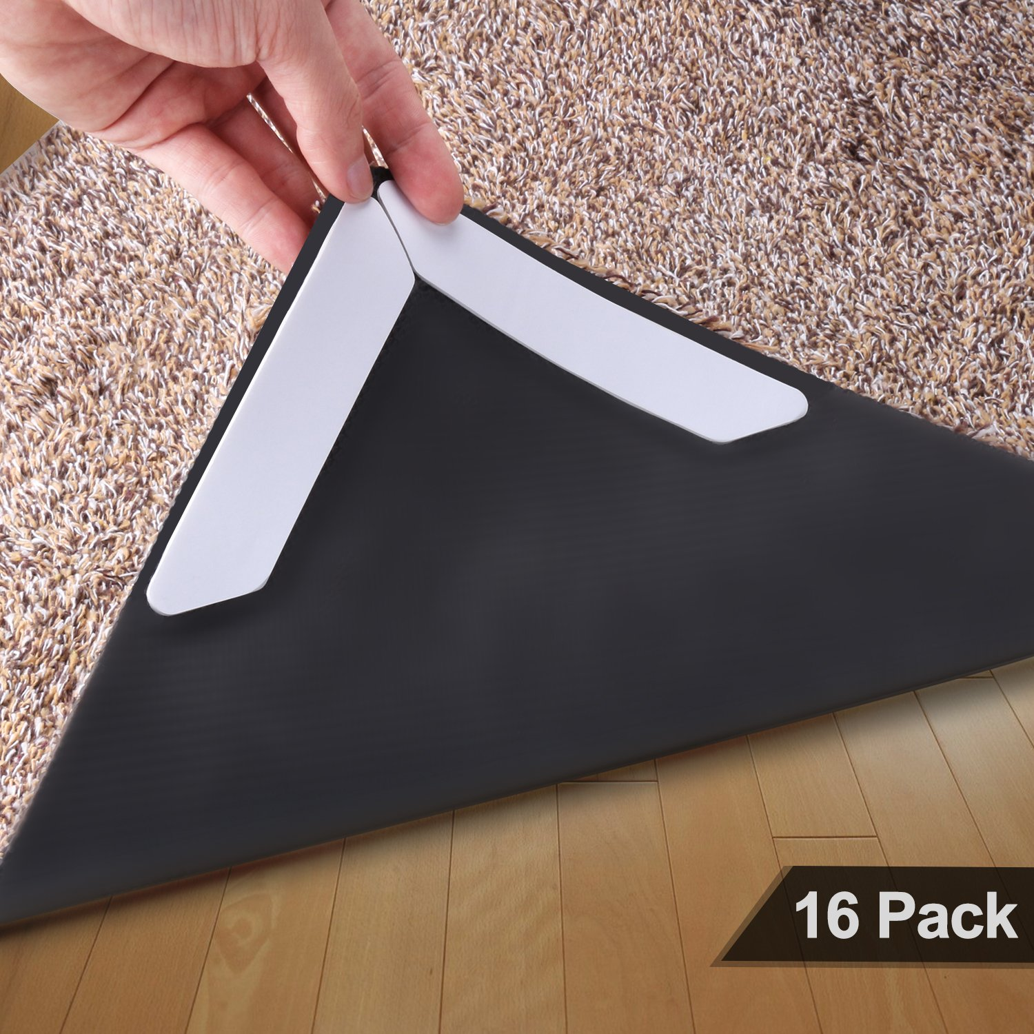 16Pcs Rug Grippers,Keep Your Carpet In Place and Prevent Carpet From Curling -  Carpet Gripper Can Be Reused and Replaced At Any Time, Making It Be Your Ideal Carpet Gripper