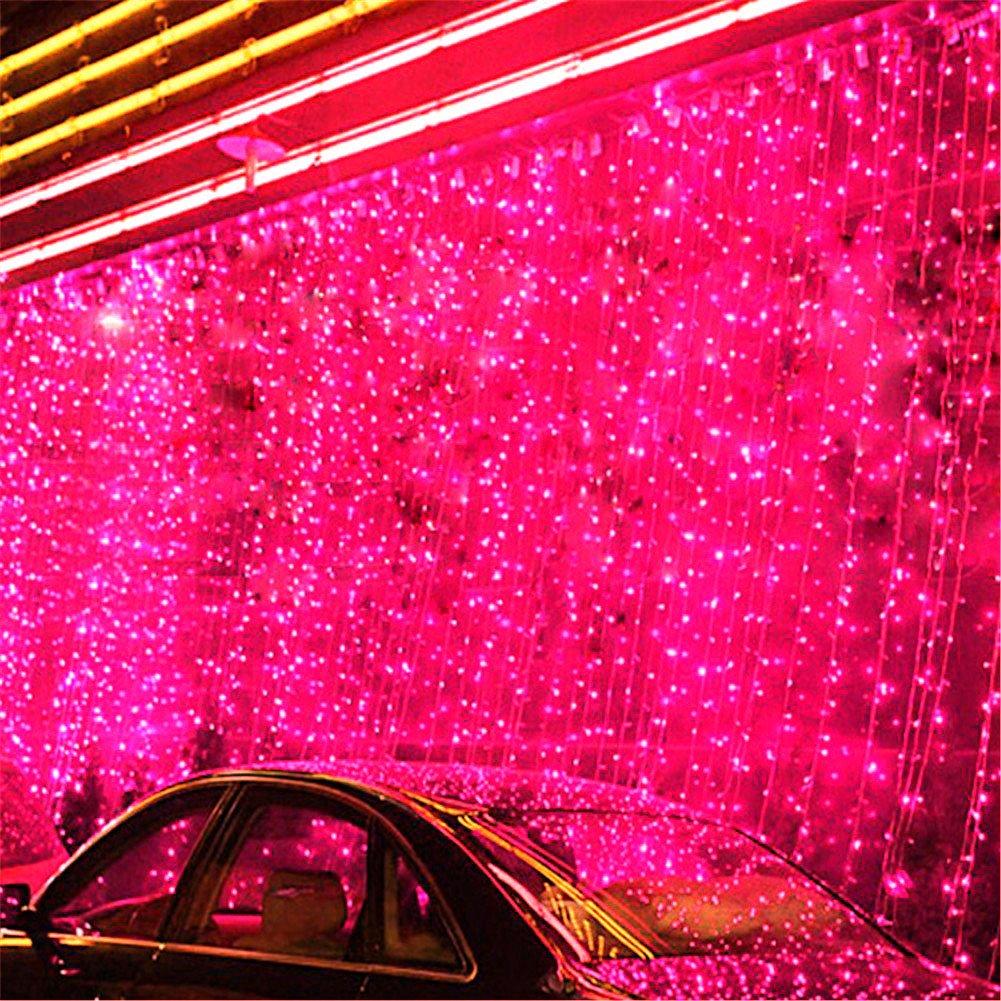 8つのモードの選択3m X 8m 800 LED屋内/屋外パーティークリスマスXmas文字列妖精のウェディングカーテンライト (レッド) B014BLMGVO レッド レッド