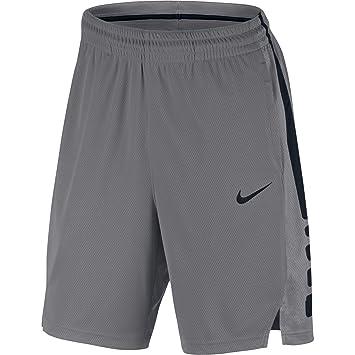 new product 4b8de 49eae Nike Men s Elite Basketball Short Atmosphere Grey Black Size X-Large