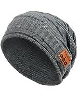 【大バーゲン】Tectri Bluetooth帽子 ニットキャップ 防寒対応ハット 音楽/ハンズフリー通話可能 暖かいハット ニット編み スキーキャップ 男女兼用 スピーカー/マイク付け ヘッドセット スポーツ用キャップ ワイヤレス音楽帽 4色選択