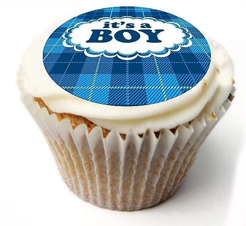 Personnalisé Anniversaire Comestible Cake Topper boy