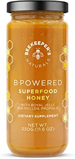product image for BEEKEEPER'S NATURALS B.Powered - Fuel Your Body & Mind, Helps with Immune Support, Mental Clarity, Enhanced Energy & Athletic performance - Propolis, Royal Jelly, Bee Pollen, Honey (11.6 oz)