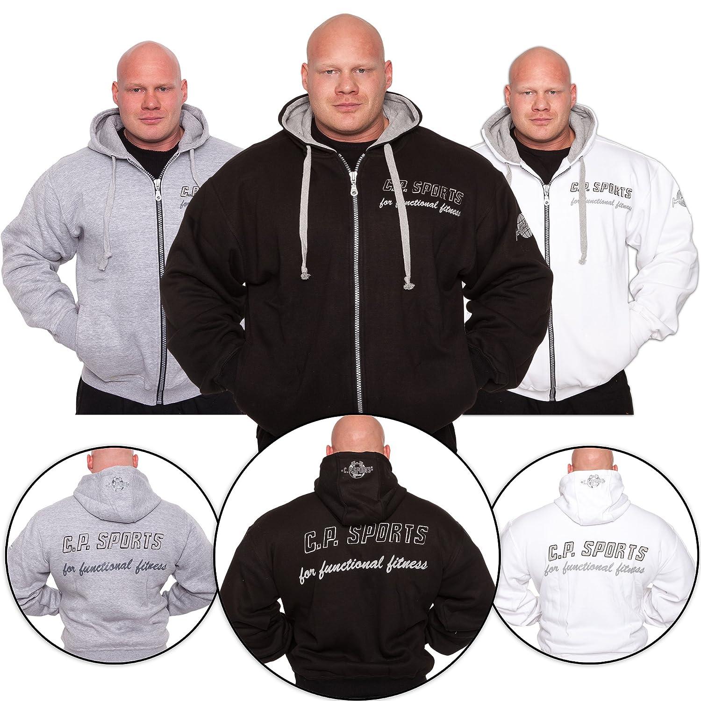 C.P.Sports Kapuzenjacke - Farbe  Schwarz Schwarz Schwarz Bodybuilding Pullover - Hoodie Sweater - Kapuzenpullover B00H9ELCU2 Kapuzenpullover Verhandlung bb5653