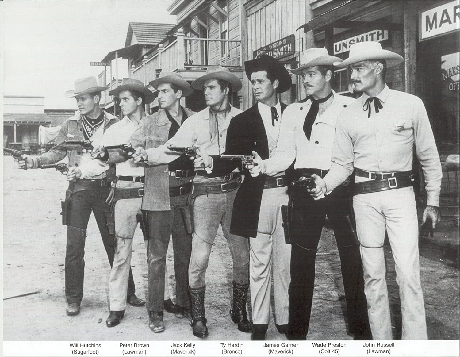 Amazon.com: Gatsbe Exchange Old West Western 7 Stars Cowboys 1950s TV  Classics Vintage Old Photo 8 x 10 Tin Sign: Posters & Prints