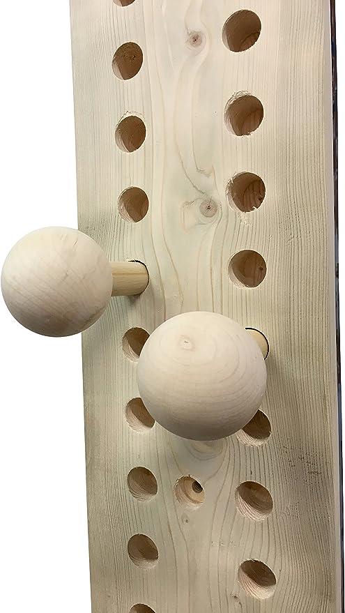 Rip Your Grip Range Peg Board Bombas/Bolas de 7 cm de diámetro (Juego de 2) para Escalada