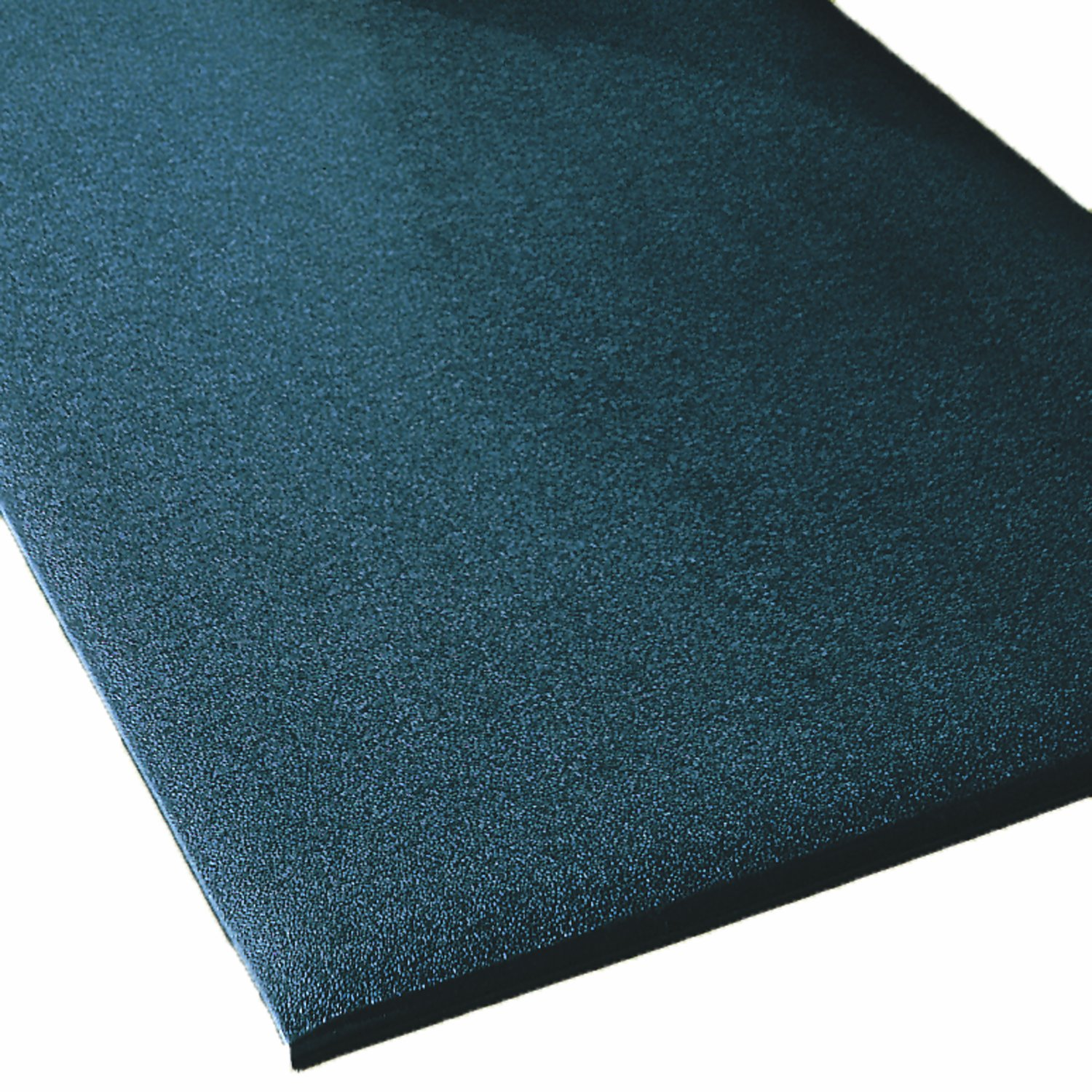 Rhino Mats CST-4872-58B Comfort Step Textured Vinyl Foam Anti-Fatigue Mat, 4' Width x 6' Length x 5/8'' Thickness, Black