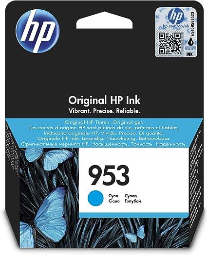 Oferta amazon: HP 953 F6U12AE, Cian, Cartucho de Tinta Original, compatible con impresoras de inyección de tinta HP OfficeJet Pro 7720, 7730, 7740, OfficeJet Pro Series 8000
