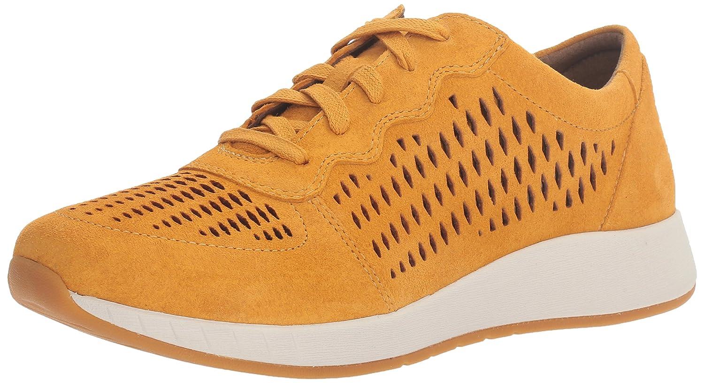 Dansko Women's Charlie Fashion Sneaker B01HJCMAPY 36 EU/5.5-6 M US|Mustard Suede