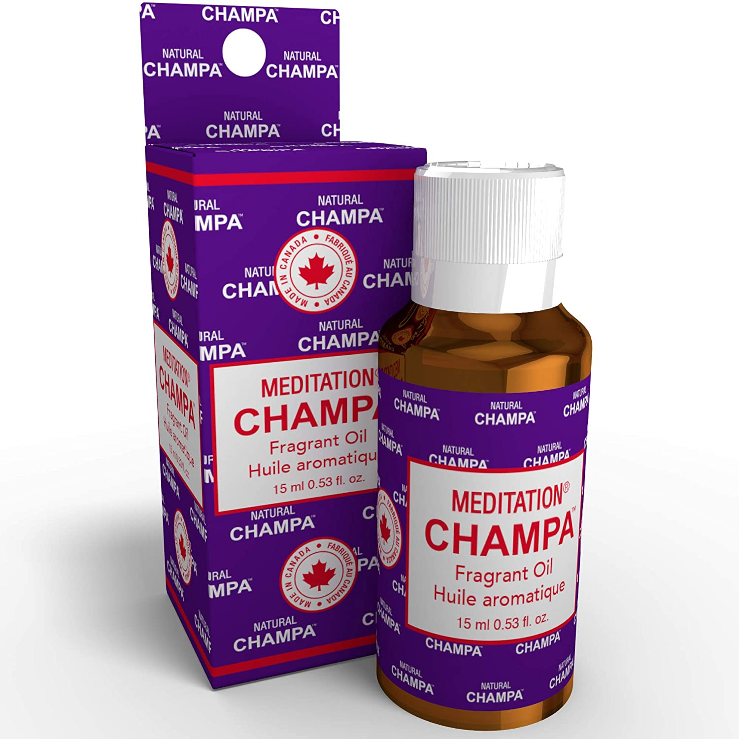 Natural Champa Meditation Fragrant Oil Concentrated Fragrance Oil - Ideal for Environmental Scenting, Bath, Perfumery, Oil Burners & Diffusers - Made with Natural Essential Oils.(15 ml.)