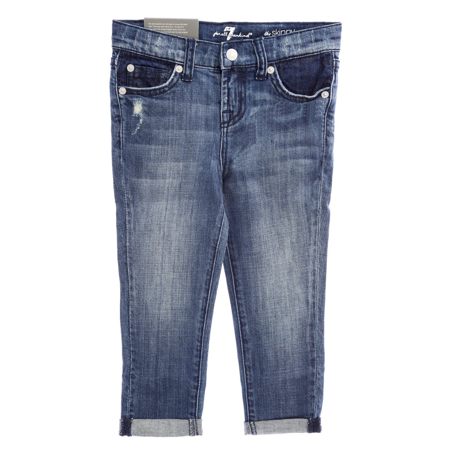 7 for All Mankind Girls The Skinny Crop & Roll Jeans, 6X Sardina Lt. Heritage
