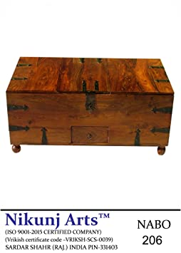 Nikunj Sheesham Wooden Modern Wine Box Bar Cabinet - Brown