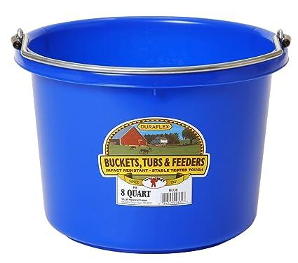 Miller Manufacturing P 8 BLUE Quart Plastic Buckets Blue