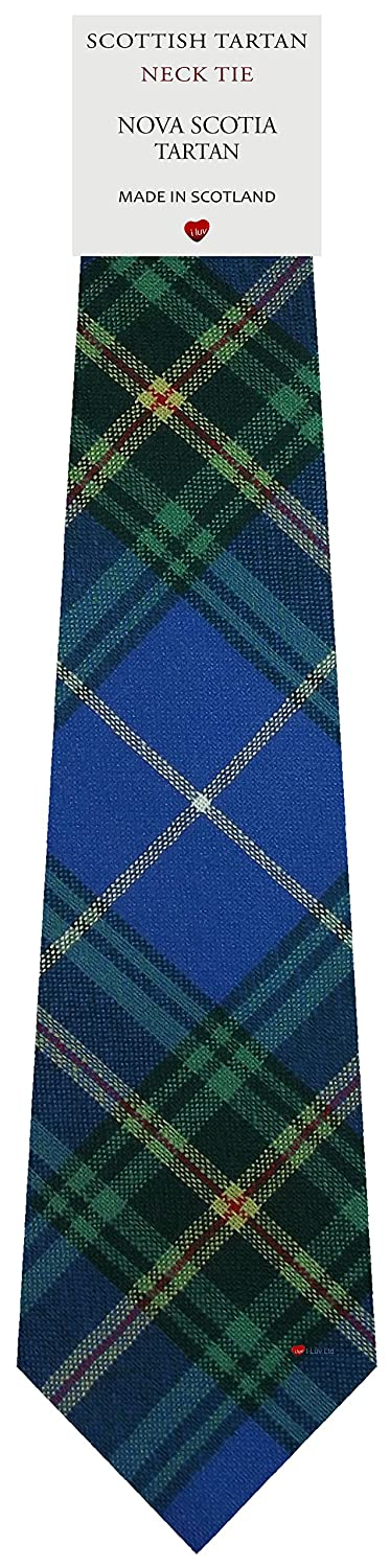Mens Tie All Wool Made in Scotland Nova Scotia Canadian Tartan I Luv Ltd