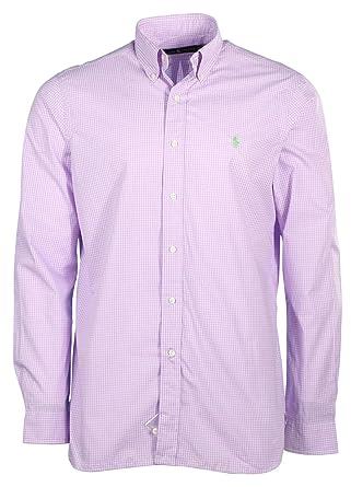 Ralph Lauren Polo Mens Button Down Pony Logo Dress Shirt at Amazon ...