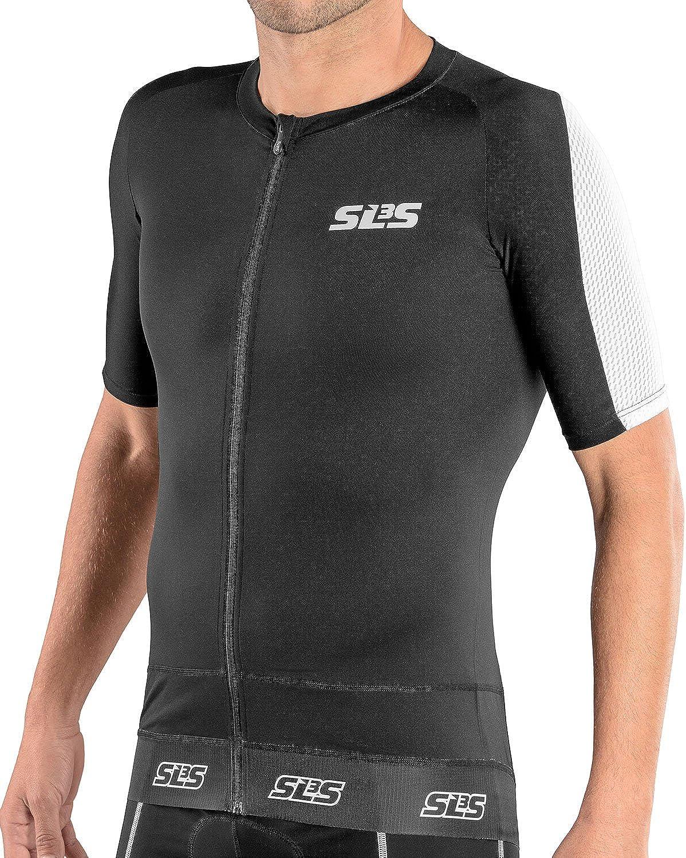 Full Zipper Triathlon Tops Shirt SLS3 Tri Top Men Short Sleeve Ideal for Longer Distances Triathlon Tops Mens Aero Cycle Jersey Singlet 1 Pocket
