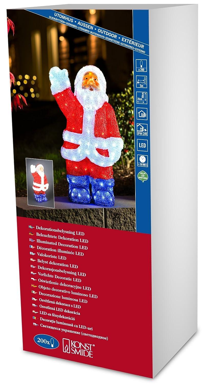 Konstsmide LED acrilico decorazione Santa, Santa, Small Santa 36cm 6153-203