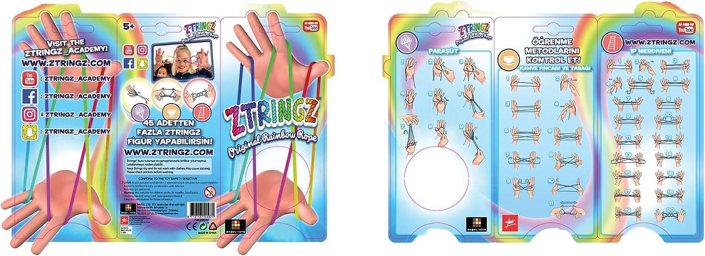 6 Stück Glitter Ztringz Rainbow Rope Fadenspiel Fingerspiel Fingertwist Kinder