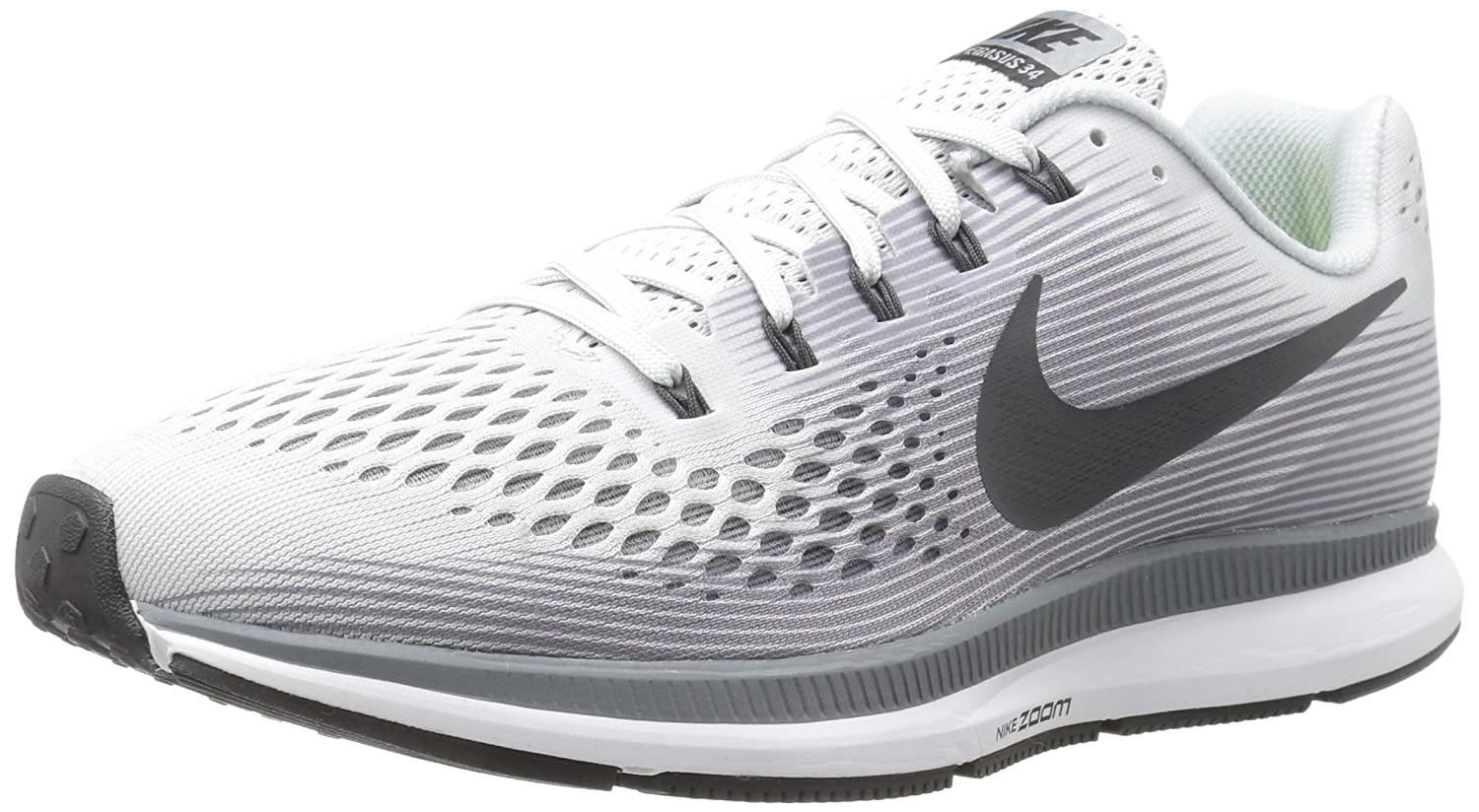 Nike Men's Air Zoom Pegasus 34 Running Shoe Pure PlatinumAnthracite Size 9.5 M US
