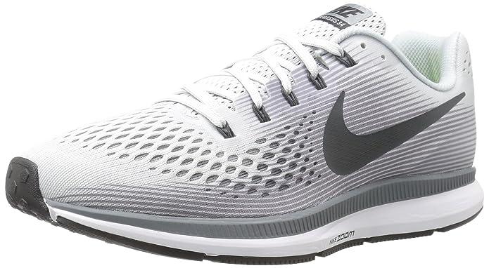 the best attitude 1e999 39cca Amazon.com   Nike Mens Air Zoom Pegasus 34 Running Shoe Pure  Platinum Anthracite-Cool Grey-Black 12.5   Road Running