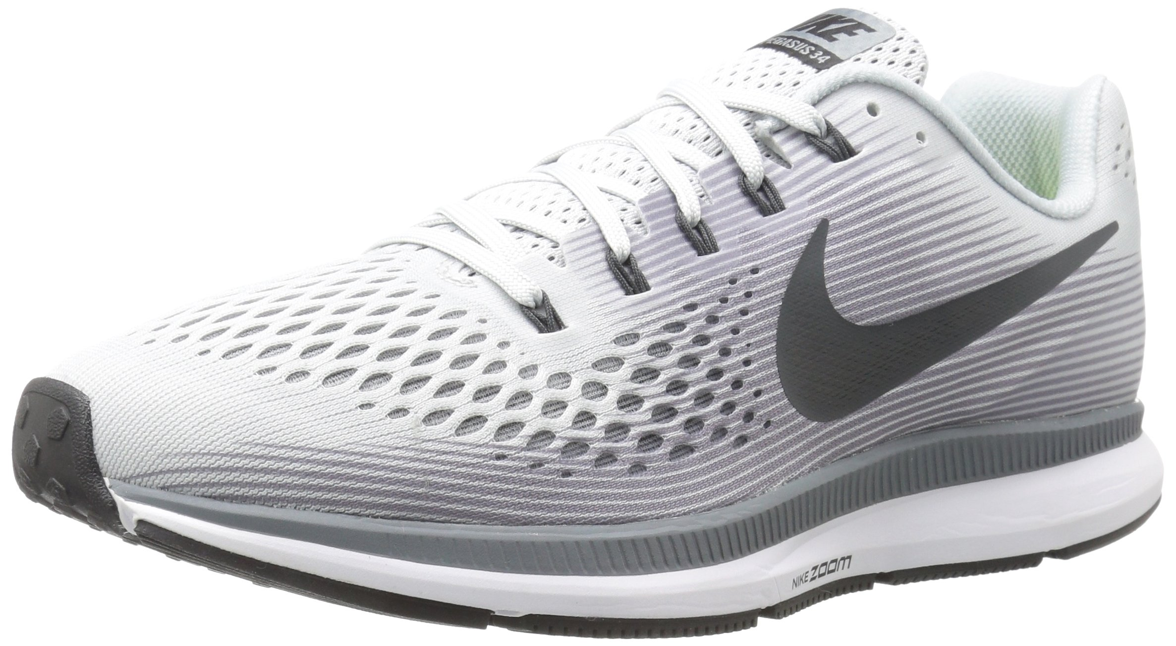 32d7f2363998b Nike Men's Air Zoom Pegasus 34 Running Shoes-Pure Platinum/Anthracite-10