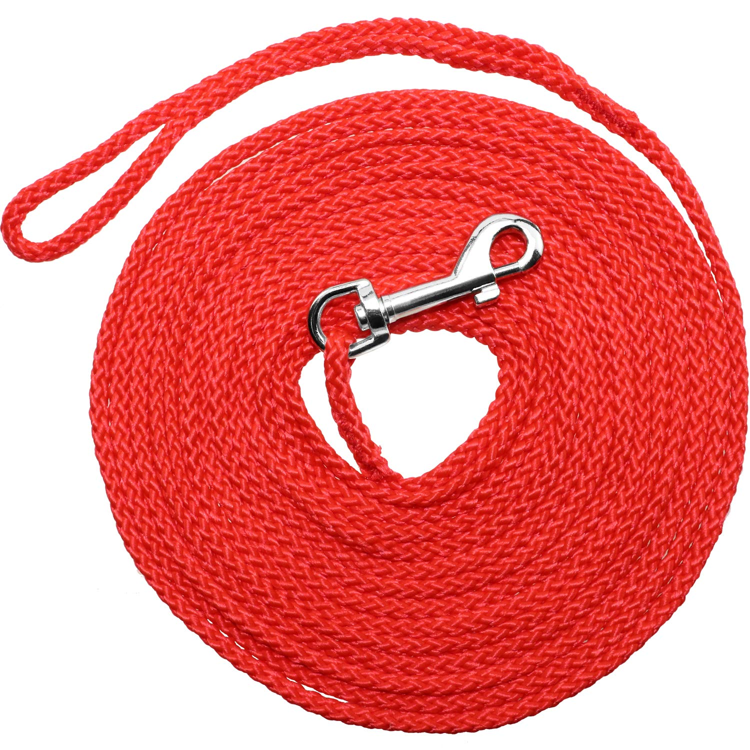 Red 50ft Red 50ft Joytale Rope Dog Check Cord, Round Dog Training Leash, Dog Tracking Leads for Small Medium Dogs, Red 50 ft