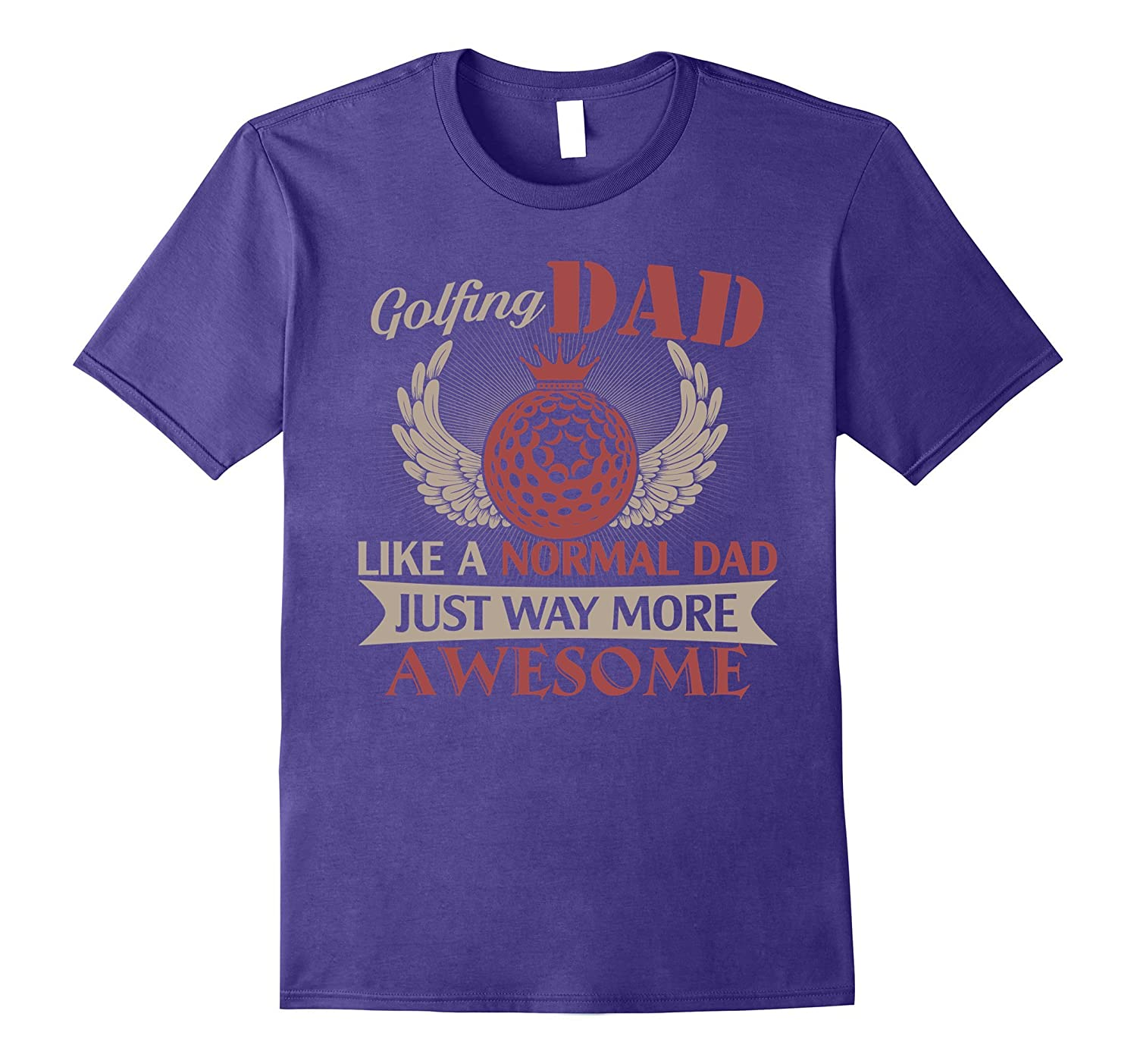 Awesome Golfing Dad Funny Sports Tshirt for Daddy Love Golf-Vaci