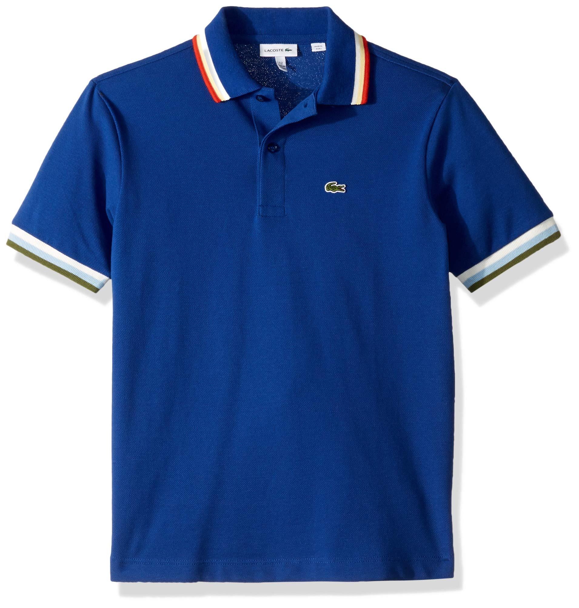Lacoste Toddler BOY SEMI Fancy Pique Polo, Captain, 3YR