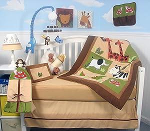 SoHo Baby Crib Bedding 9 Piece Set, Safari
