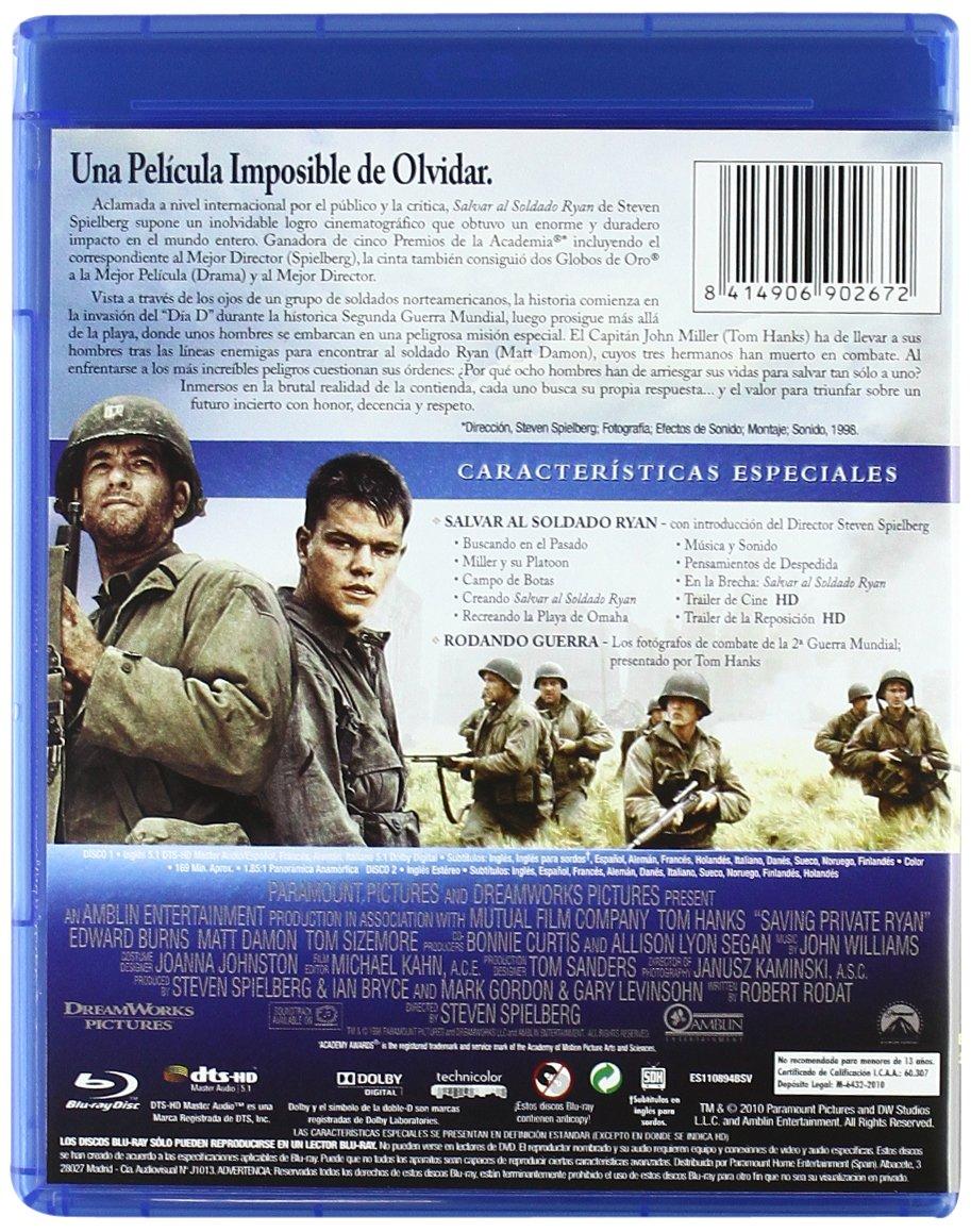 Amazon.com: Salvar Al Soldado Ryan (Blu-Ray) (Import Movie) (European Format - Zone B2) (2012) Ted Danson; Barry Pepper; T: Movies & TV