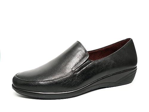 Zapatos mujer tipo mocasín PITILLOS - Negro - 1800 - 10 (40, negro): Amazon.es: Zapatos y complementos