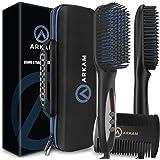 Arkam Deluxe Beard Straightener for Men - Ionic Beard Straightening Comb, Anti-Scald Feature, Hair Straightener for Men…